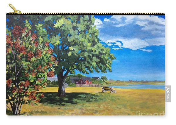 Summer's End In Biddeford At Biddeford  Pool Carry-all Pouch