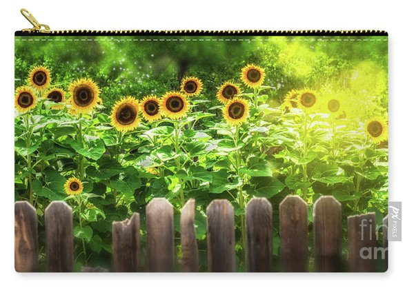Carry-all Pouch featuring the photograph Summer's Sunflowers by Susan Warren