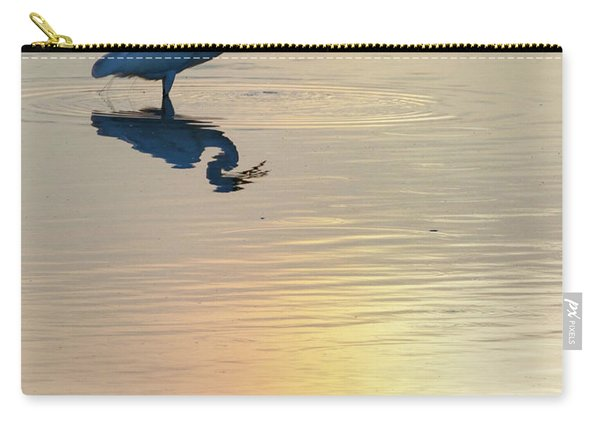Carry-all Pouch featuring the photograph Sun Dog And Great Egret 4 by Rob Graham