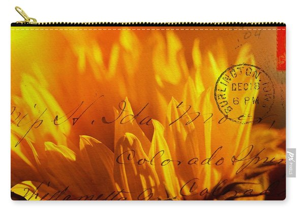Carry-all Pouch featuring the photograph Sun Flower Envelope by Michael Hope