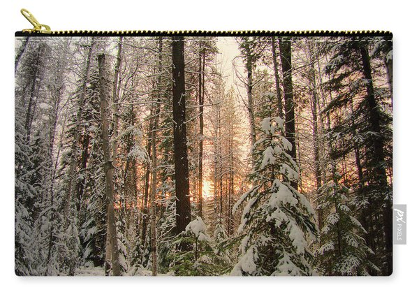 Sun Of Winter Trees Carry-all Pouch