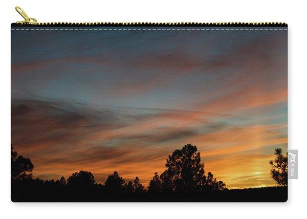 Carry-all Pouch featuring the photograph Sun Pillar Sunset by Jason Coward