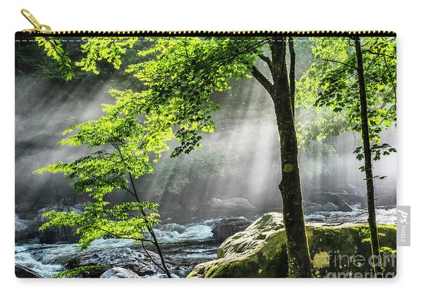 Sun Rays On Williams River  Carry-all Pouch