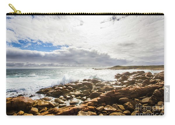 Sun Rising Over The Ocean Carry-all Pouch