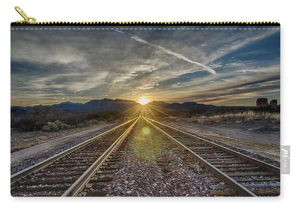 Sun Sets At The End Of The Line Carry-all Pouch