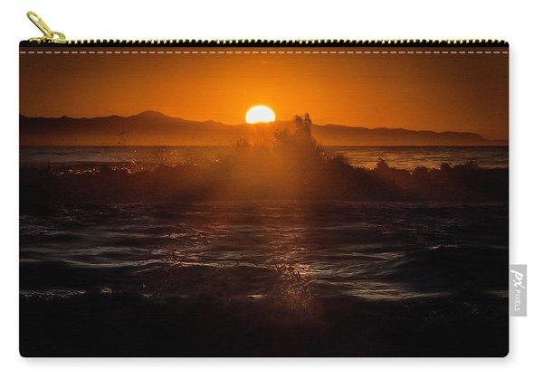 Sun Setting Behind Santa Cruz Island Carry-all Pouch