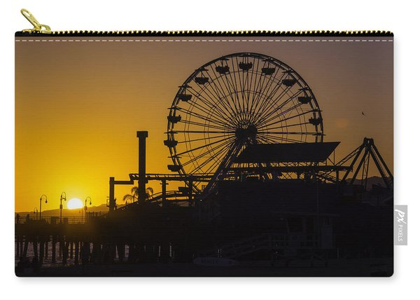 Sun Setting Beyond Ferris Wheel Carry-all Pouch