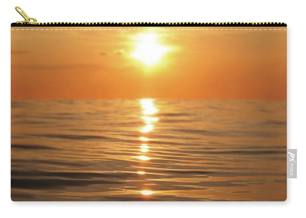 Sun Setting Over Calm Waters Carry-all Pouch