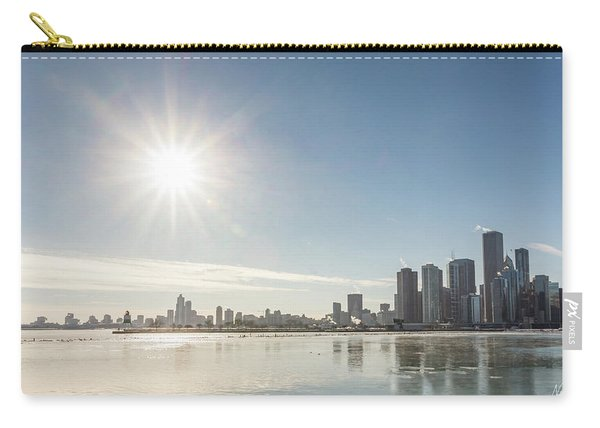 Sun Setting Over Chicago Carry-all Pouch