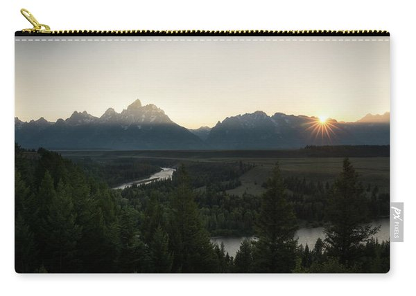 Sun Setting Over The Teton Range Carry-all Pouch