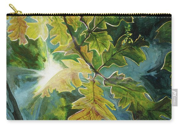 Sun Through Oak Leaves Carry-all Pouch