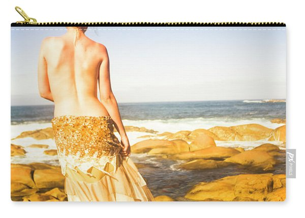 Sunbathing By The Sea Carry-all Pouch