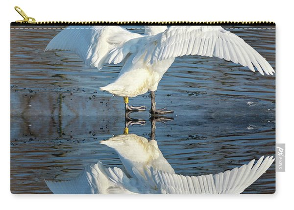 Sunbathing Swans Carry-all Pouch