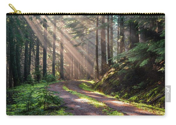 Sunbeam In Trees Portrait Carry-all Pouch