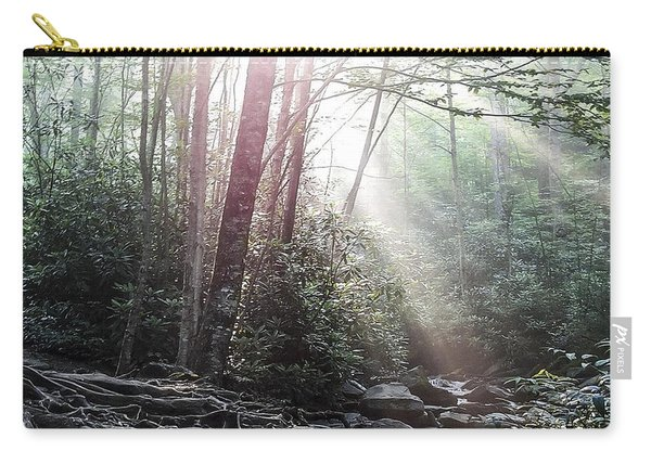 Sunbeam Streaming Into The Forest Carry-all Pouch