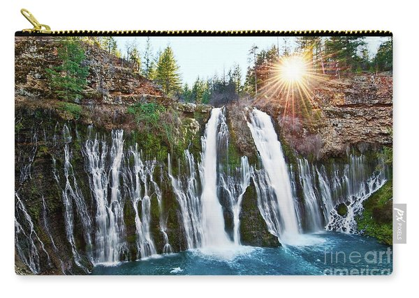 Sunburst Falls - Burney Falls Is One Of The Most Beautiful Waterfalls In California Carry-all Pouch