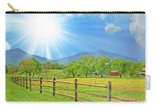 Sunburst Over Peaks Of Otter, Virginia Carry-all Pouch