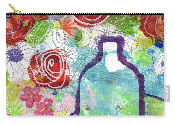 Sunday Market Flowers 2- Art By Linda Woods Carry-all Pouch