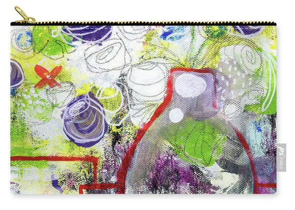 Sunday Market Flowers 3- Art By Linda Woods Carry-all Pouch