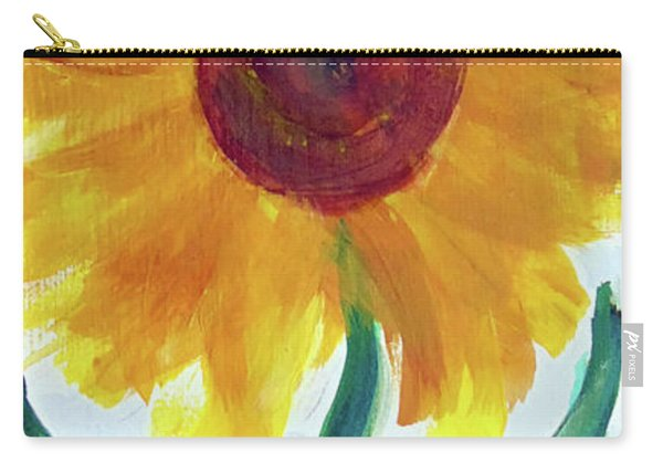Carry-all Pouch featuring the painting Sunflower 89 by Loretta Nash