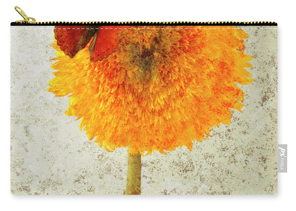Sunflower And Red Butterfly Carry-all Pouch