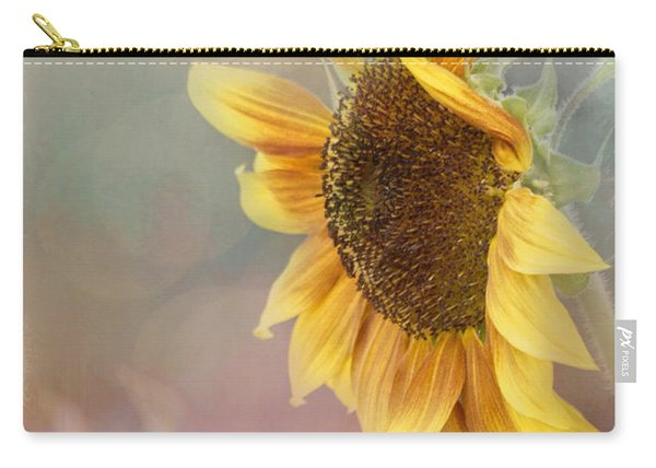 Sunflower Art - Be The Sunflower Carry-all Pouch