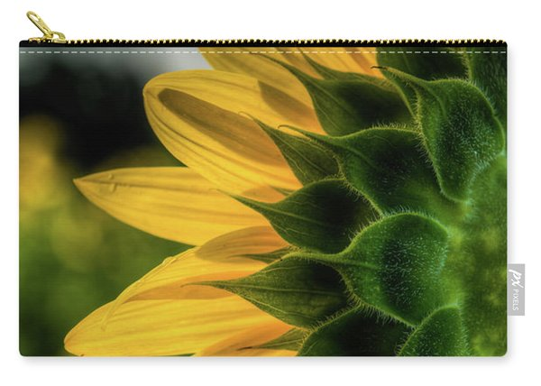 Sunflower Blooming Detailed Carry-all Pouch