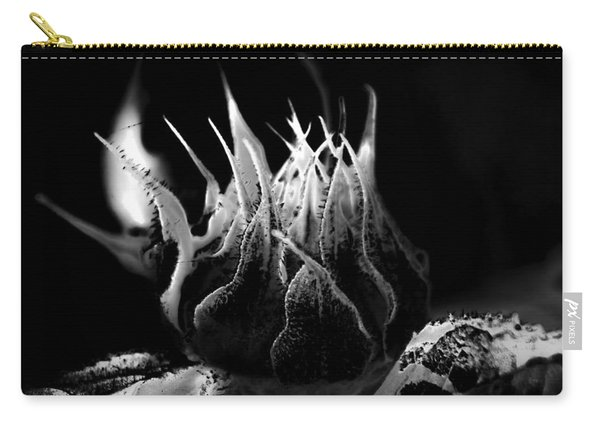 Sunflower Bud Abstract Carry-all Pouch