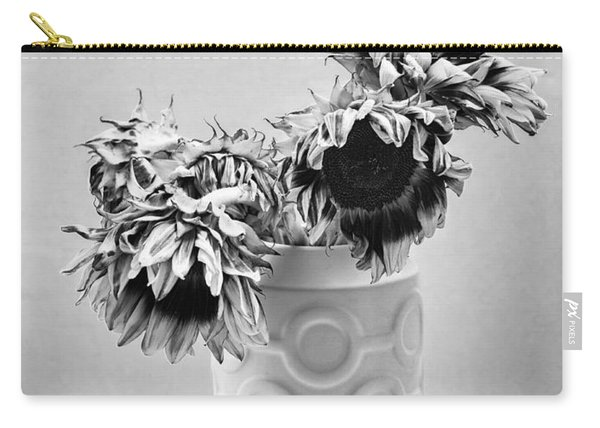 Sunflower Circle Of Light Carry-all Pouch