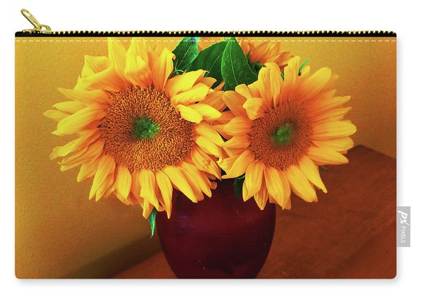 Sunflower Corner Carry-all Pouch