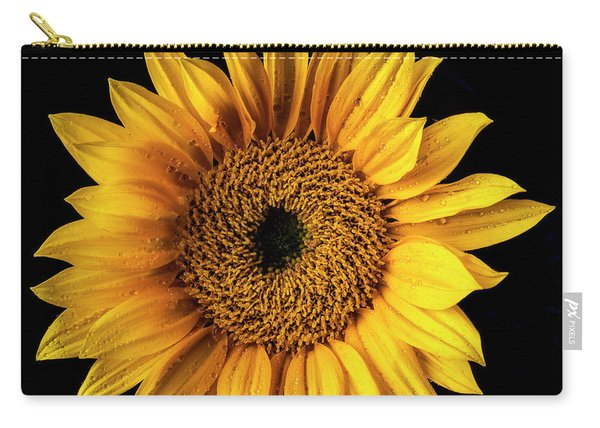 Sunflower Dew Covered Carry-all Pouch