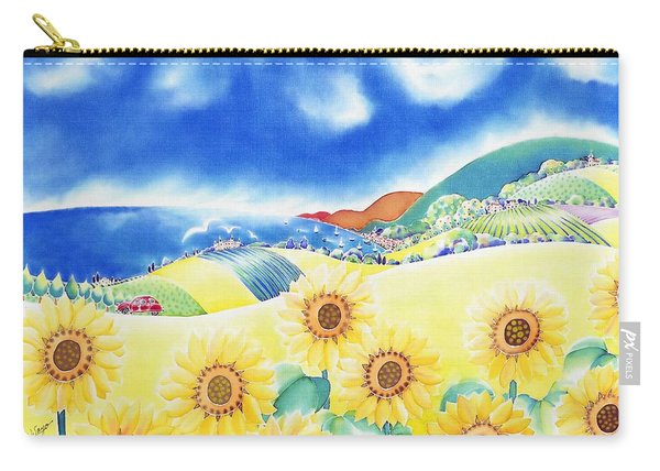 Sunflower Hills Carry-all Pouch