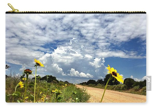 Sunflower Hitchhikers Carry-all Pouch