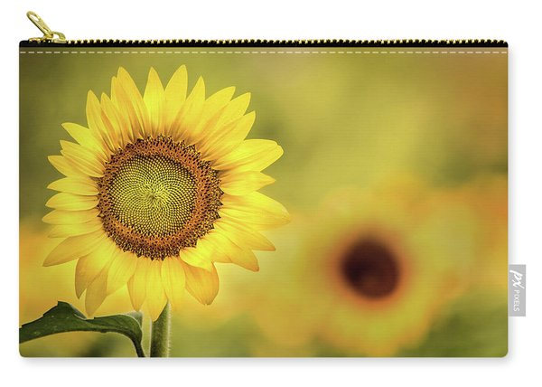 Sunflower In A Field Carry-all Pouch