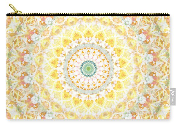 Sunflower Mandala- Abstract Art By Linda Woods Carry-all Pouch