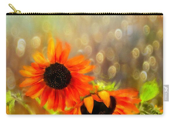 Sunflower Rain Carry-all Pouch
