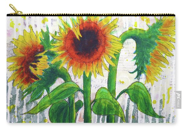 Sunflower Sonata Carry-all Pouch