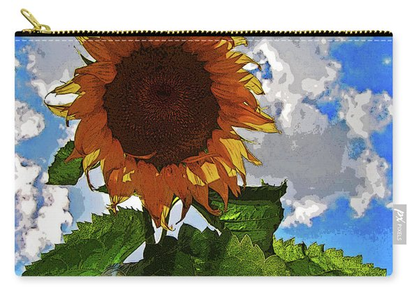 Sunflower Staring You In The Eye Carry-all Pouch