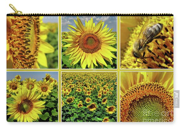 Sunflower Story - Collage Carry-all Pouch