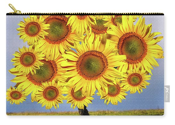 Sunflower Tree Carry-all Pouch