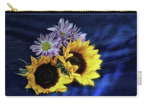 Sunflowers And Daisies Carry-all Pouch