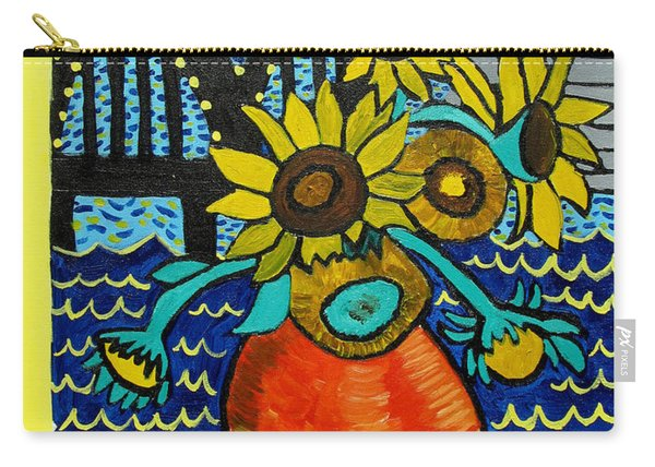 Sunflowers And Starry Memphis Nights Carry-all Pouch
