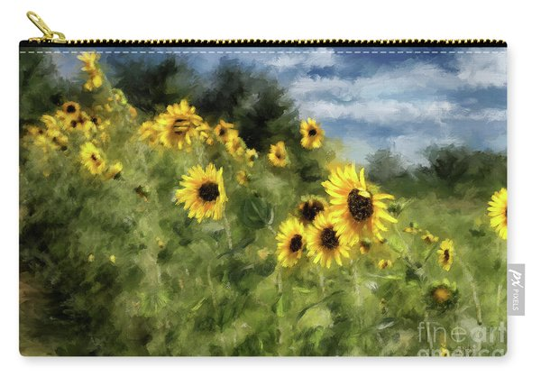 Sunflowers Bowing And Waving Carry-all Pouch