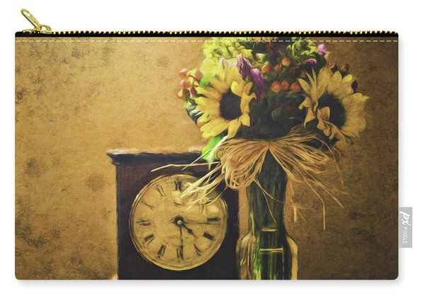Sunflowers Floral Still Life 3 Carry-all Pouch
