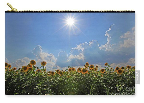 Sunflowers With Sun And Clouds 1 Carry-all Pouch