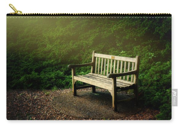 Sunlight On Park Bench Carry-all Pouch