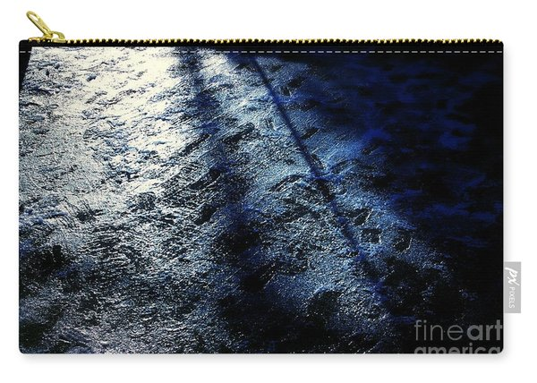 Sunlight Shadows On Ice - Abstract Carry-all Pouch