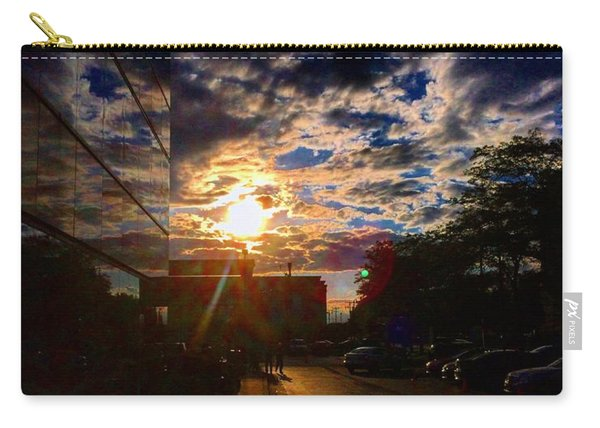 Sunlit Cloud Reflection Carry-all Pouch