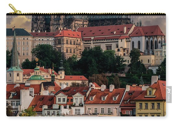 Carry-all Pouch featuring the photograph Sunny Afternoon In Prague by Jaroslaw Blaminsky