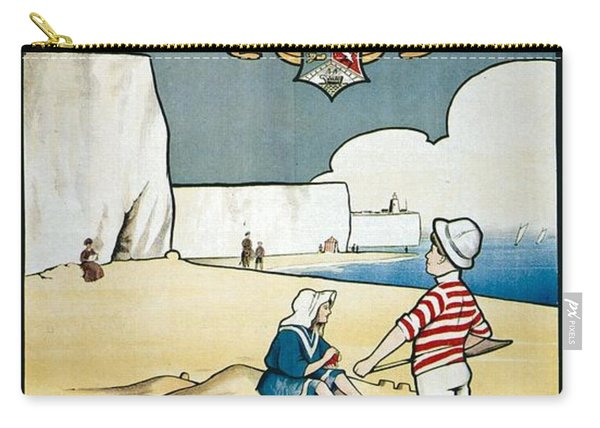 Sunny Broadstairs - South Eastern And Chatham Railway - Retro Travel Poster - Vintage Poster Carry-all Pouch